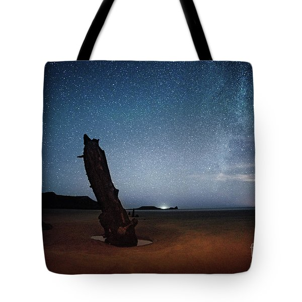 Gower Helvetia At Night  Tote Bag