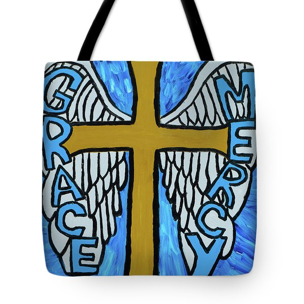 Tote Bag featuring the painting Grace And Mercy by Christopher Farris