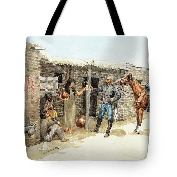 Gracias Senorita, May The Apaches Never Get You, 1885 Tote Bag