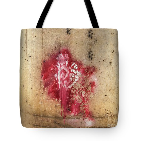 Grafitti Heart Tote Bag