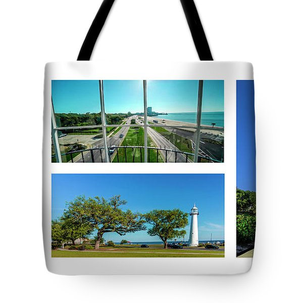 Grand Old Lighthouse Biloxi Ms Collage A1a Tote Bag