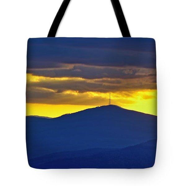Grandmother Mountain Sunset Tote Bag
