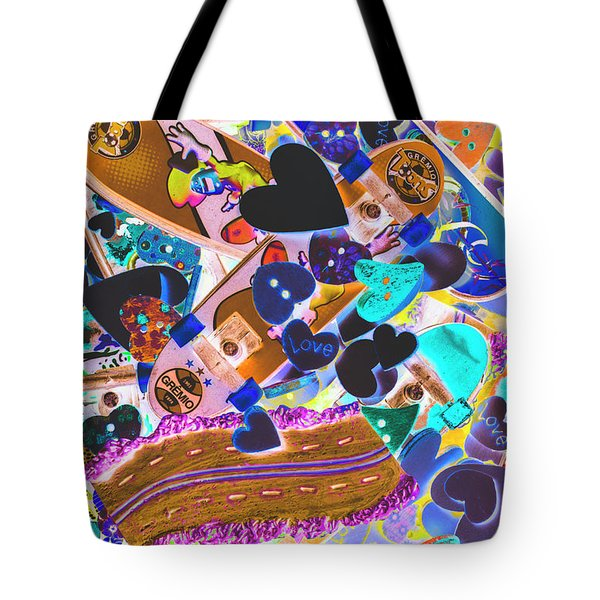 Graphic Decksign Tote Bag