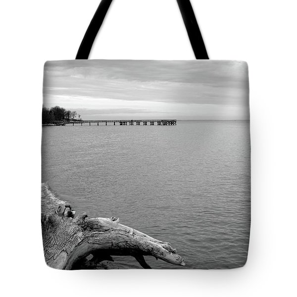 Gray Day On The Bay Tote Bag