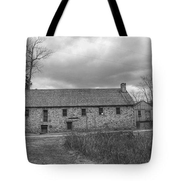 Grey Skies Over Fieldstone - Waterloo Village Tote Bag