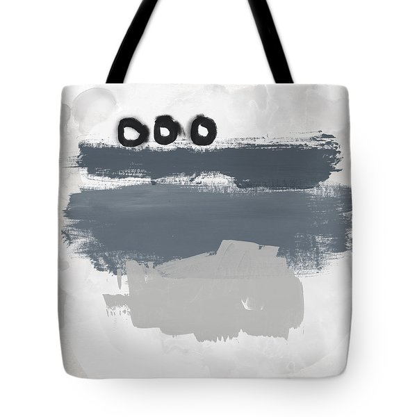 Tote Bag featuring the mixed media Grayscale 1- Abstract Art By Linda Woods by Linda Woods