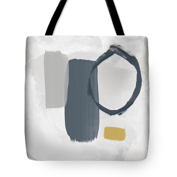 Tote Bag featuring the mixed media Grayscale 2- Abstract Art By Linda Woods by Linda Woods