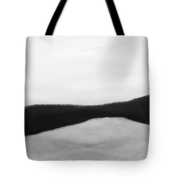 Grayscale 3- Abstract Art By Linda Woods Tote Bag