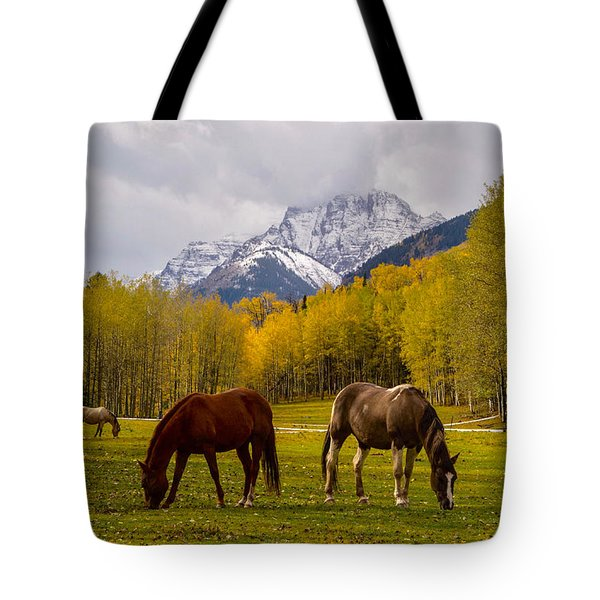Grazing In Aspen Tote Bag