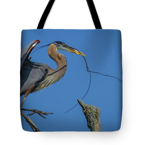 Great Blue Heron 4034 Tote Bag