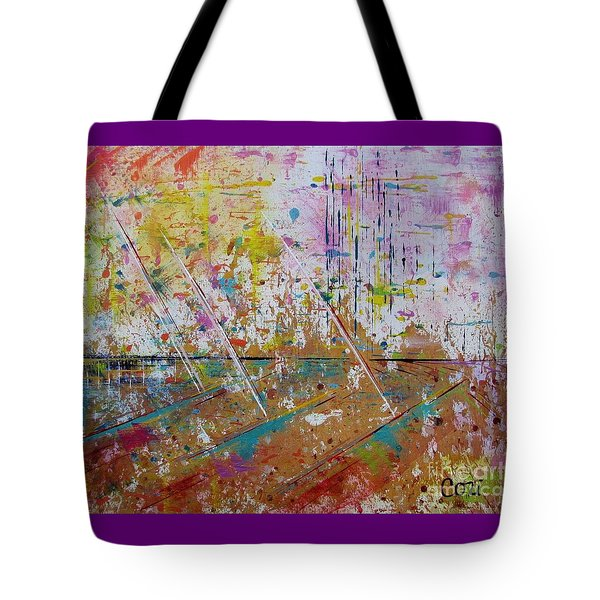 Tote Bag featuring the painting Great Day Ahead by Corinne Carroll