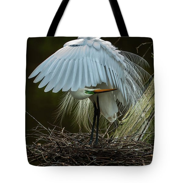 Great Egret Beauty Tote Bag