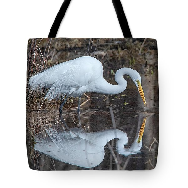 Great Egret In Breeding Plumage Dmsb0154 Tote Bag