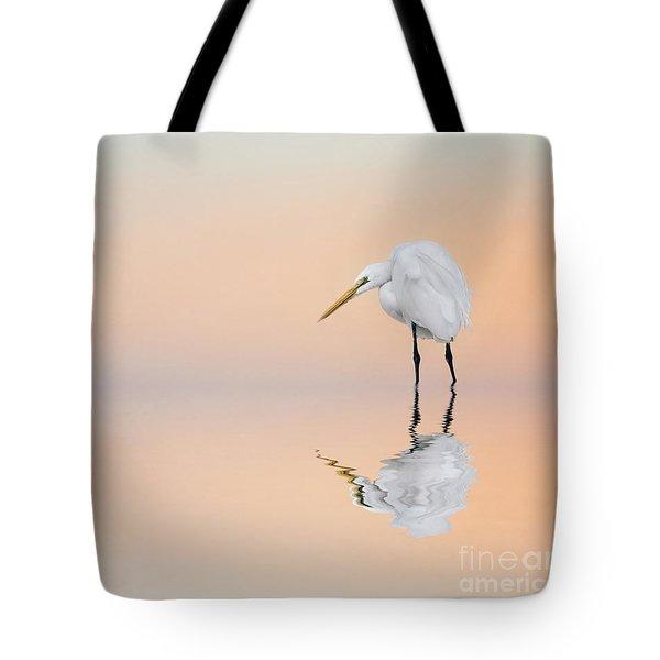 Great Egret Reflecting Tote Bag
