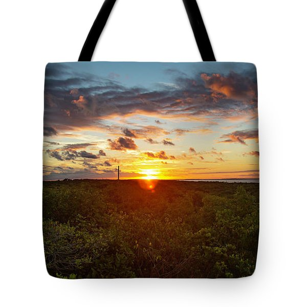 Tote Bag featuring the photograph Great Exuma Sunrise by Thomas Kallmeyer
