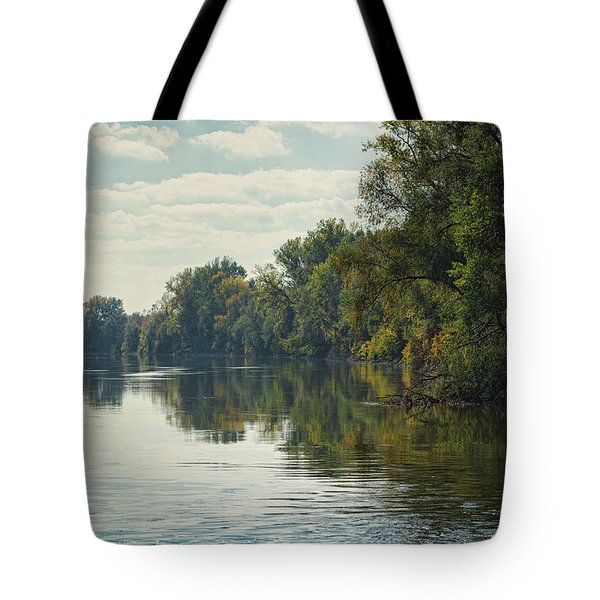 Tote Bag featuring the photograph Great Morava River by Milan Ljubisavljevic