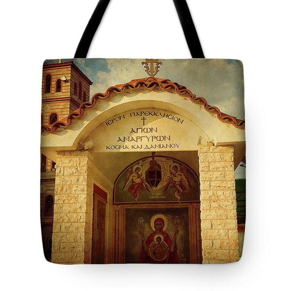 Tote Bag featuring the photograph Greek Church by Milena Ilieva