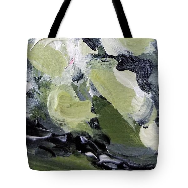 Tote Bag featuring the painting Green #1 by Maria Langgle