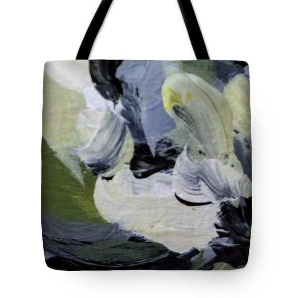 Tote Bag featuring the painting Green #2 by Maria Langgle