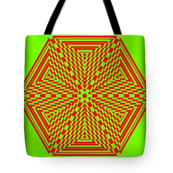 Green And Red Fusion  Tote Bag