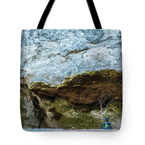 Green Buddha And The Flying Trapeze Tote Bag