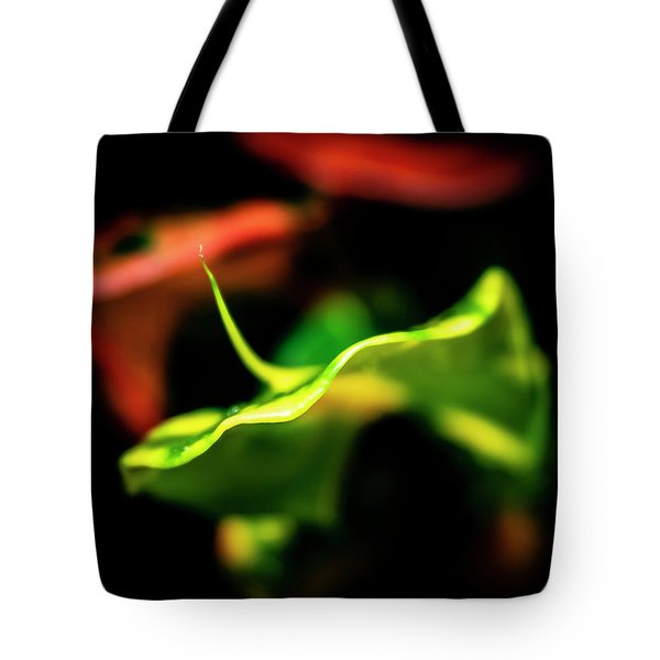 Green Croton Tote Bag