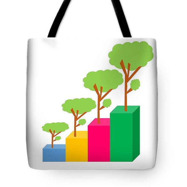 Green Economy Investment Concept Tote Bag