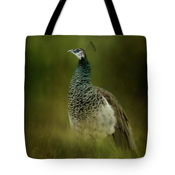 Green Gem In The Meadow  Tote Bag