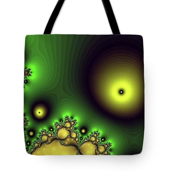 Green Glowing Bliss Abstract Tote Bag