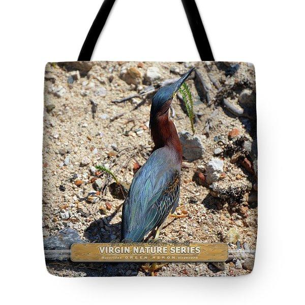 Green Heron Strut - Virgin Nature Series Tote Bag