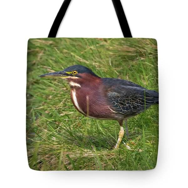 Tote Bag featuring the photograph Green Heron Up Close by Ricky L Jones