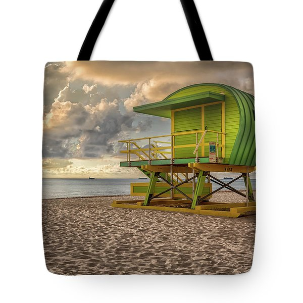 Green Lifeguard Stand Tote Bag