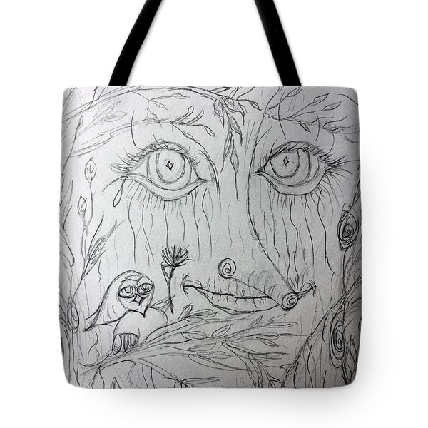 Green Man Of The Forest Tote Bag