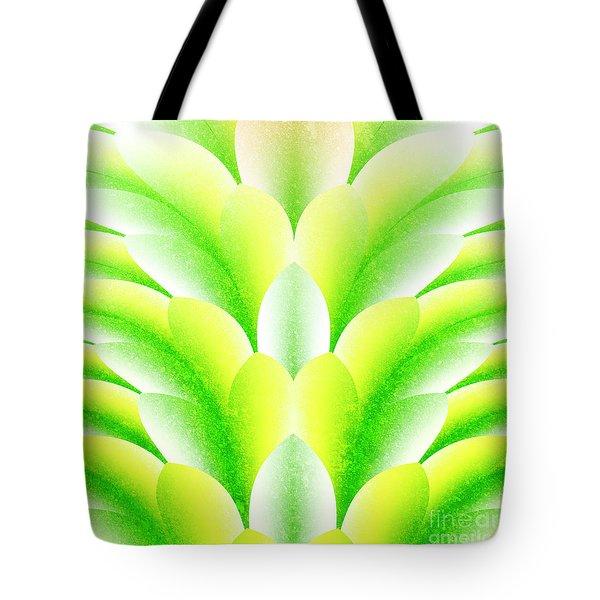 Green Petals Tote Bag