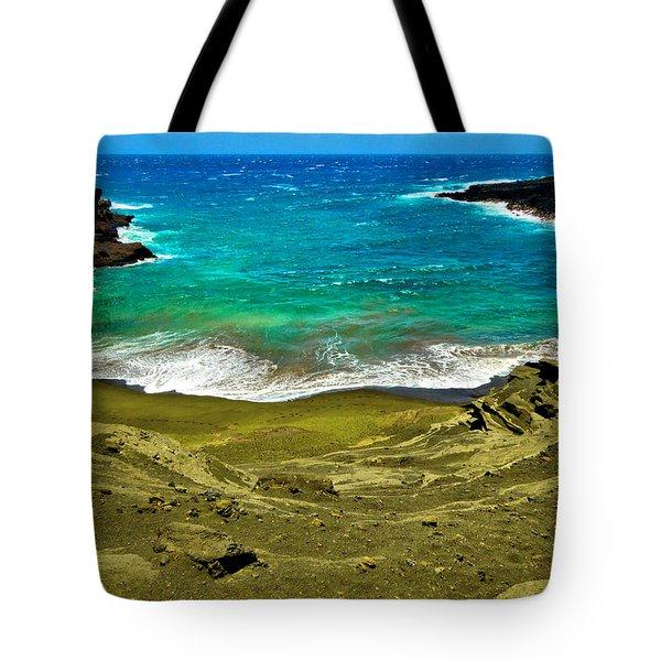 Green Sand Beach Tote Bag