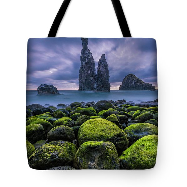 Green Stones Tote Bag