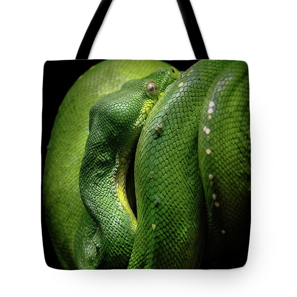 Green Tree Boa Tote Bag