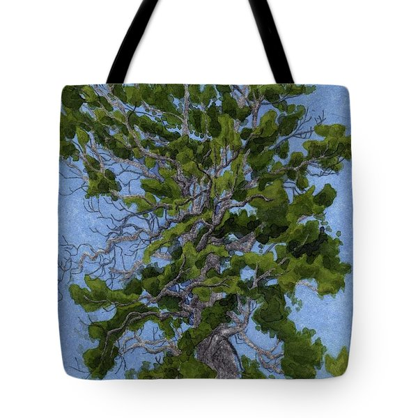 Green Tree, Hot Day Tote Bag