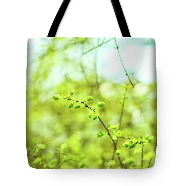Tote Bag featuring the photograph Green V by Anne Leven