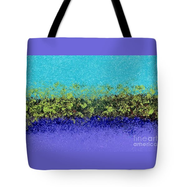 Tote Bag featuring the painting Greenery With Purple - Art By Cori by Corinne Carroll