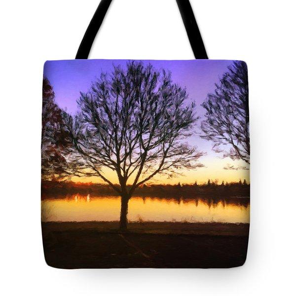 Greenlake Dawn Intensity Tote Bag