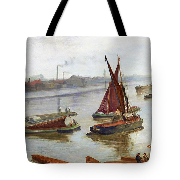 Grey And Silver, Old Battersea Reach -  Digital Remastered Edition Tote Bag