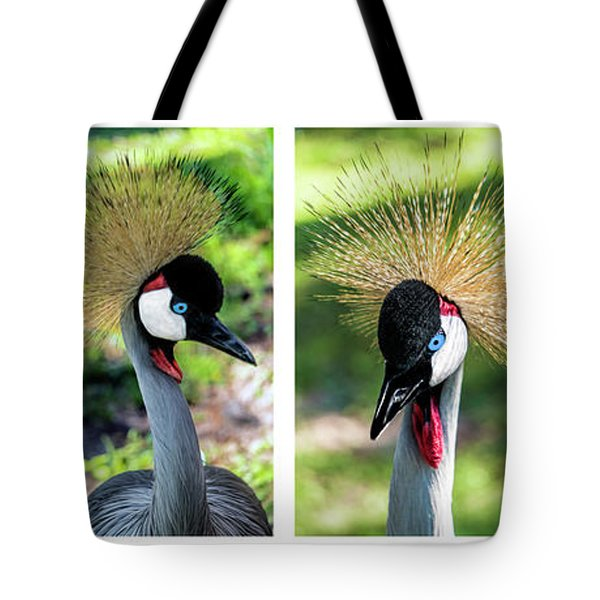 Grey Crowned Crane Gulf Shores Al Collage 1 Tote Bag