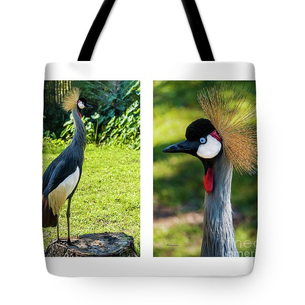 Grey Crowned Crane Gulf Shores Al Collage 10 Diptych Tote Bag