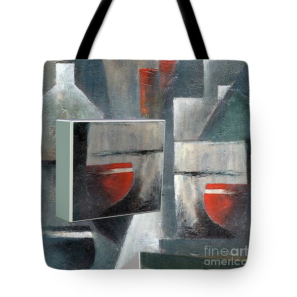 Tote Bag featuring the painting Reflections by Val Byrne