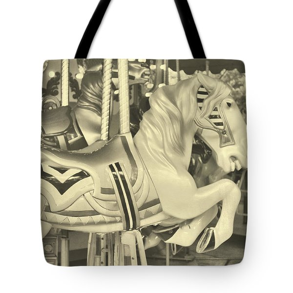 Grey Spin Tote Bag