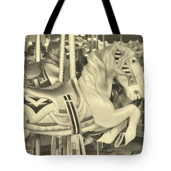 Grey Spin Tote Bag