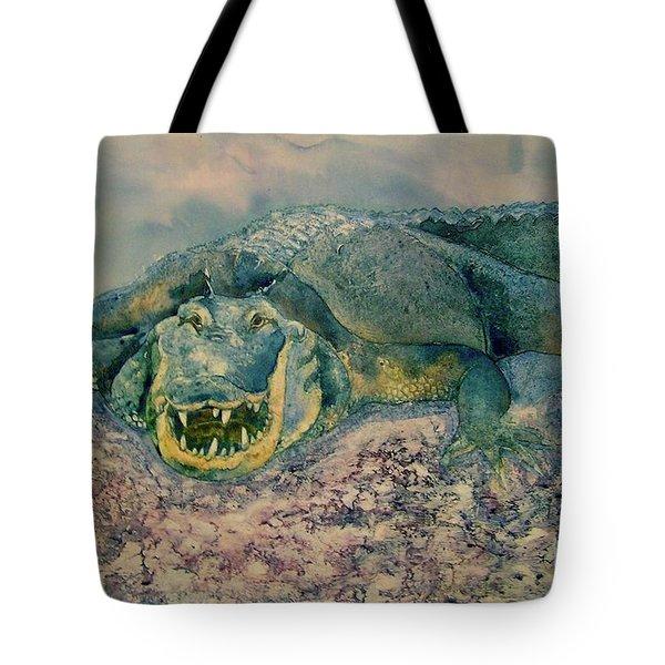 Grinning Gator Tote Bag