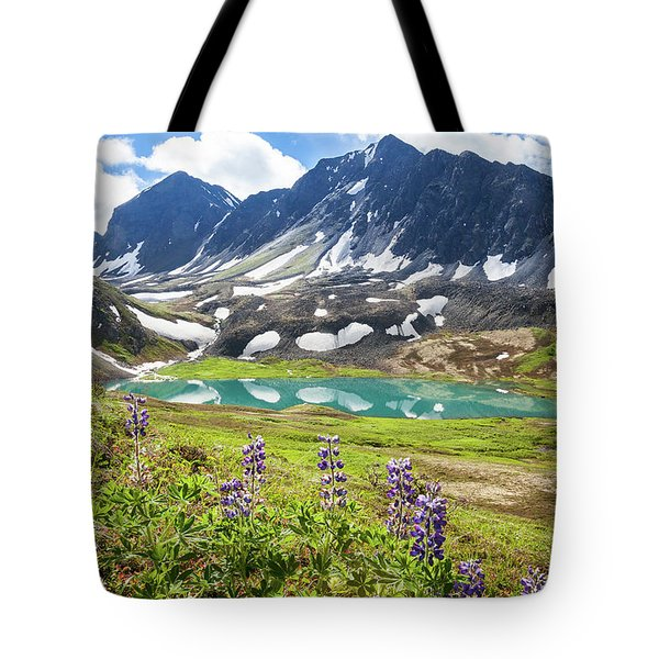 Grizzly Bear Lake Tote Bag