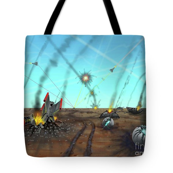 Ground Battle Tote Bag
